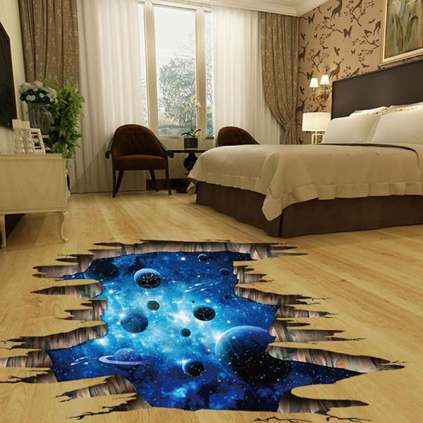 3d kosmiska rymdgalax barnväggdekaler för barnrum nu