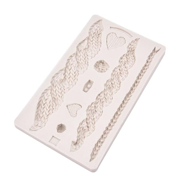 3D stickning textur silikon mögel jul kaka gräns fondant