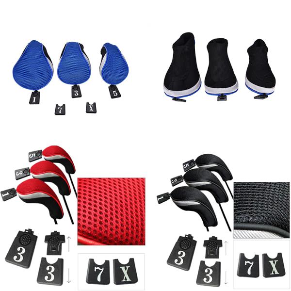 3PCs Golf Club Head Covers - 1