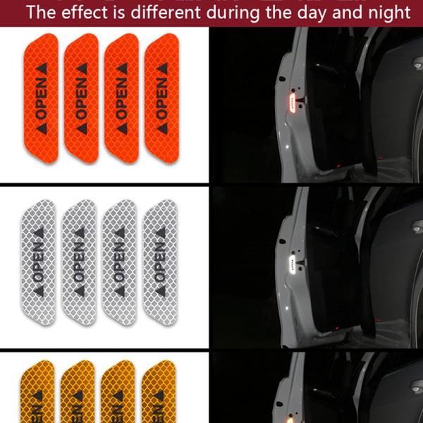 4st Universal Auto Car Door Open Sticker Reflective Tape Safet