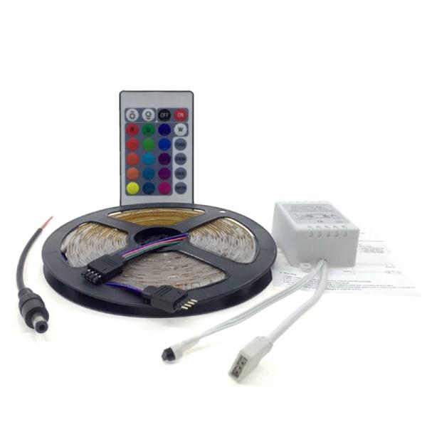 5M 3528 SMD RGB LED Strip Lights Lamp 24Key IR remote Controlle