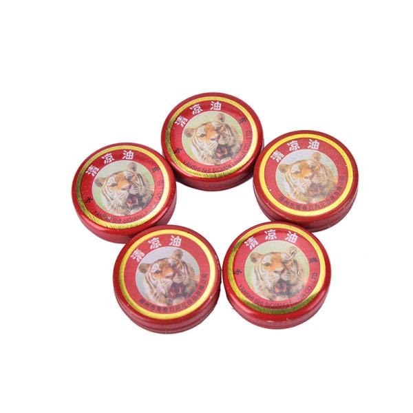 5PCS Tiger Balm Smärtlindringssalva Massage Röd Vit Muskel R