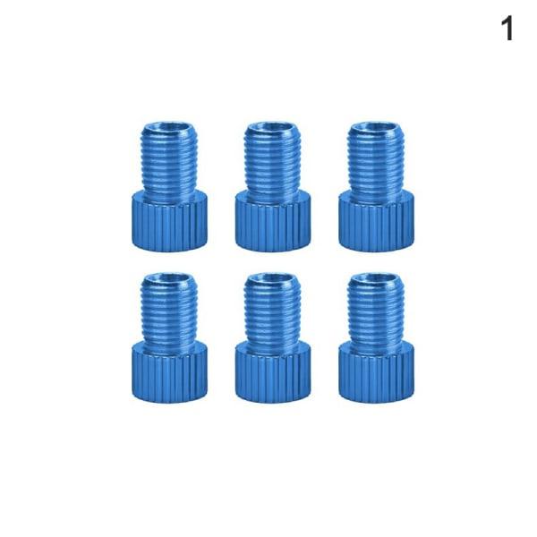 6 st aluminiumcykelventil PRESTA till SCHRADER Converter C