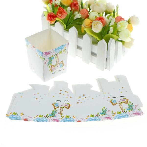 6st Unicorn Popcorn Box present godislådor för barn Happy Birthd