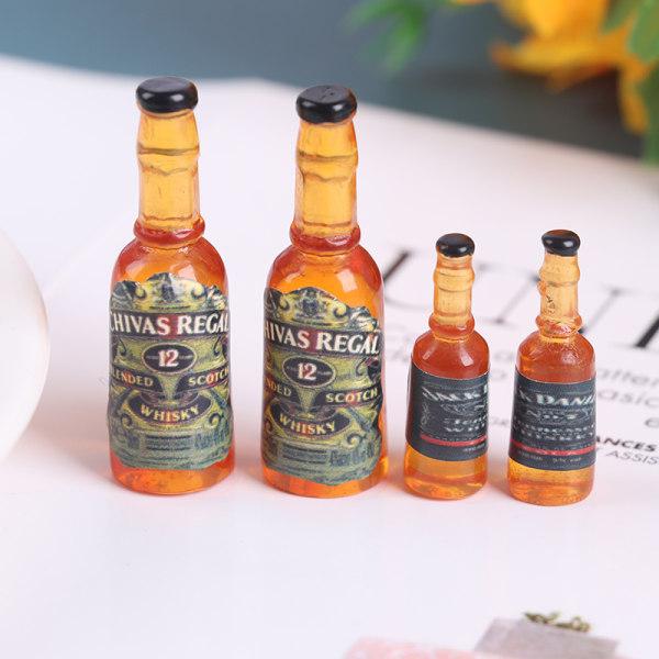8st 1/12 vinflaskor modell leksaker dockhus miniatyr för docka