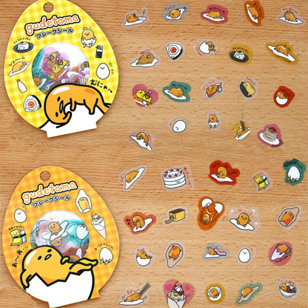 Alla 60 PCS / Pack Lazy Egg Sealing Stickers Diary Label Stickers