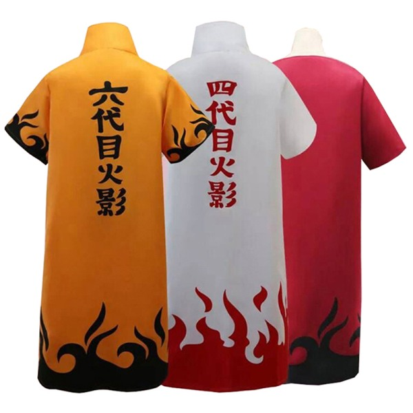 Anime Naruto Cosplay Cloaks Hokage Namikaze Minato Uniform Kakas