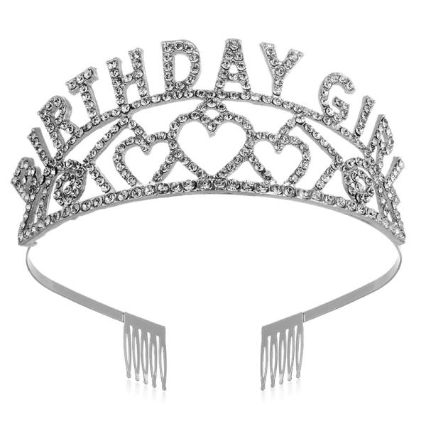 Födelsedagsdrottning / tjej Satängskärp med kristallkronafödelsedag
