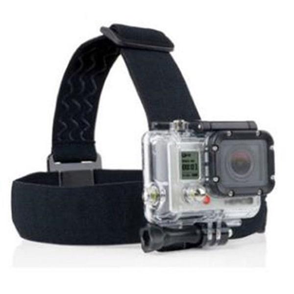 Kameratillbehör elastiskt justerbart huvudband bältesstrålkastare