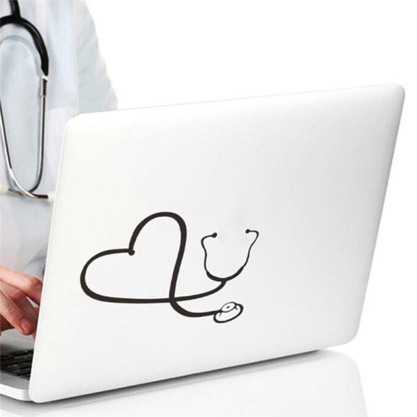 Bil Klistermärke I Hjärtat Av En Sjuksköterska Läkare Stetoskop Älskar Sty