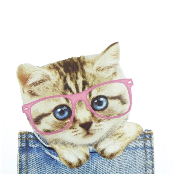 Kattlappar för kläder Strykjärnöverföringar Enkelt tryck på T-shirt