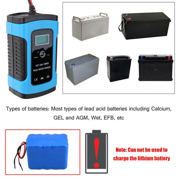 Laddare bilbatteri Starter Jump Power Booster 12V bärbar förbud