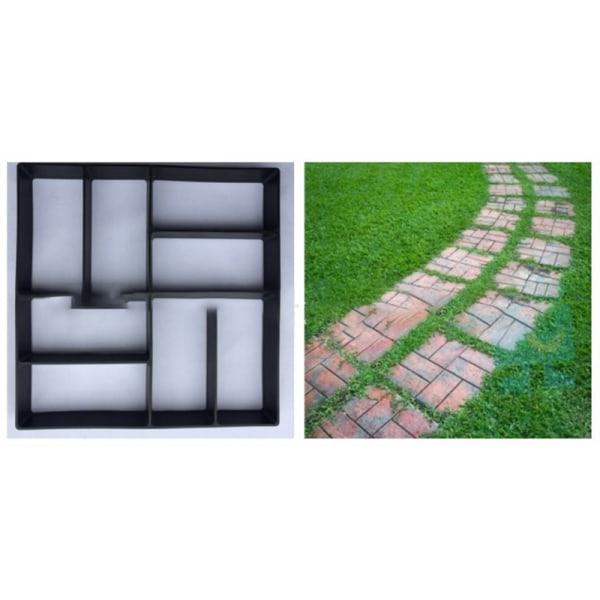 Betongformar Trädgolv DIY Beläggningsform Hem Trädgårdsväg M
