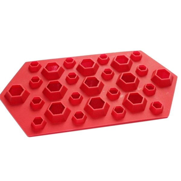 Diamond Ice Trays Cube Mold Chocolate Soap Mould DIY Frozen Dri Red One Size
