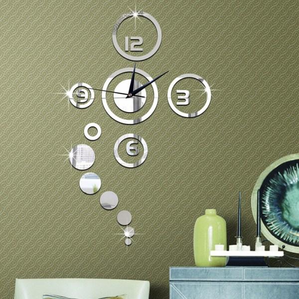 mode 3d modern dekorationsspegel DIY hem vardagsrum vägg c