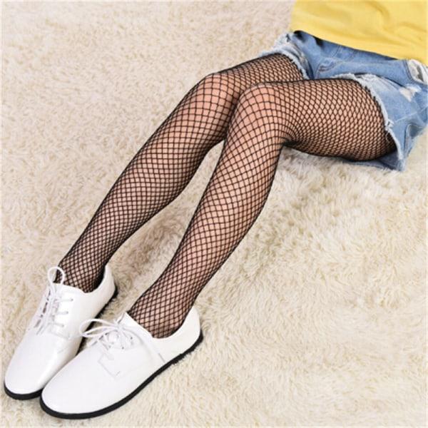 Flicka Spets Nätstrumpor Svart Strumpbyxor Mesh Tights Jeans N
