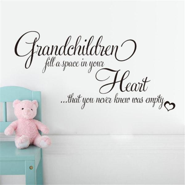 Barnbarn hjärta vägg klistermärke för vardagsrum sovrum Decora