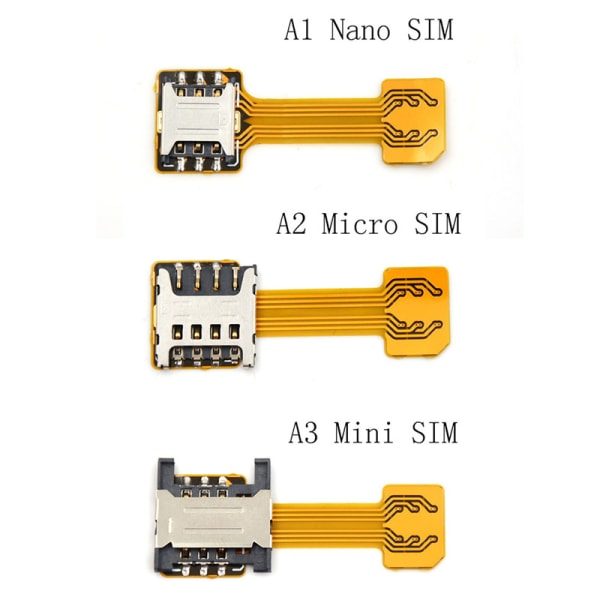 Hybrid Dual Micro Nano SIM Card Adapter Converter Extension SD  A3