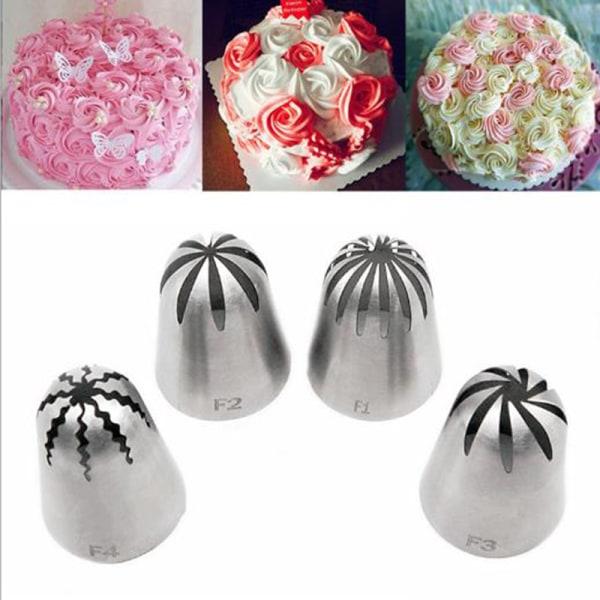 Stor storlek Rose Flower Cream Icing Piping Munstycke Rostfritt Stee