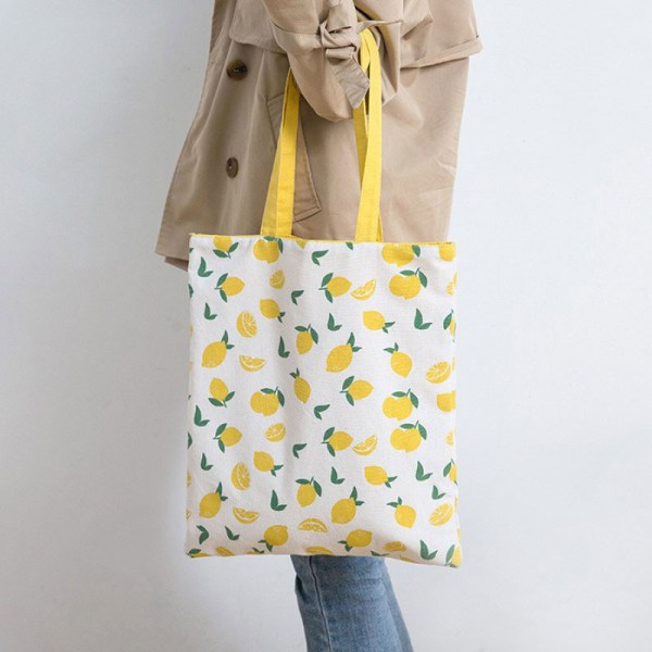 Hirsvete tyg dubbelsidig dubbelsidig handväska bomullslinne