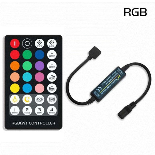 Mini RF 21/28 Keys LED Strip Controller för RGB / RGBW lampstr