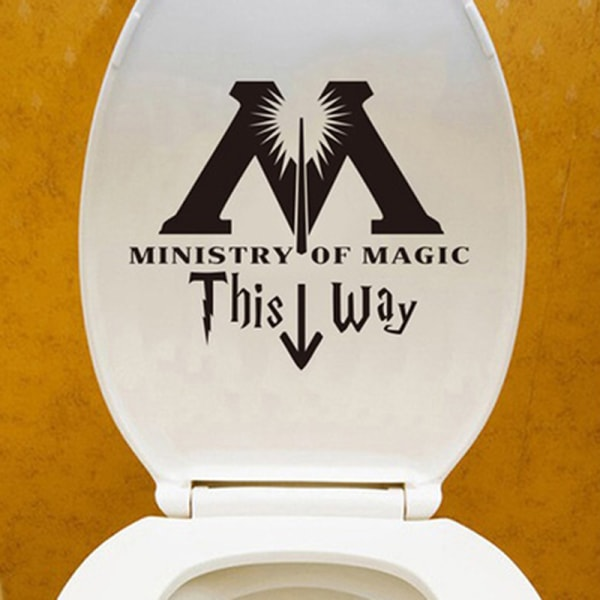Ministry of Magic detta sätt inspirerade toalett klistermärke rolig toalett