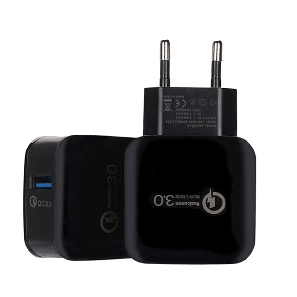 Quick Charge 3.0 USB 5V 3A Mobilvägg Hemresor AC Fas