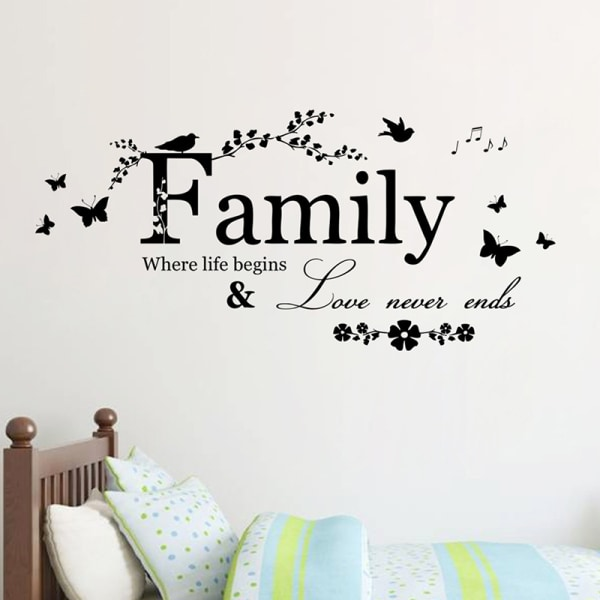 Avtagbara heminredning väggdekaler dekaler Familj Vinyl citat M