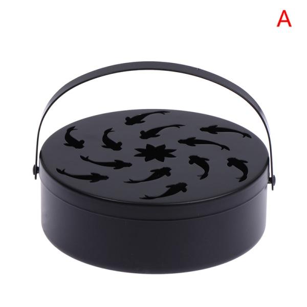 Retro järn ihålig myggspolbox med lockhandtag hushålls sa