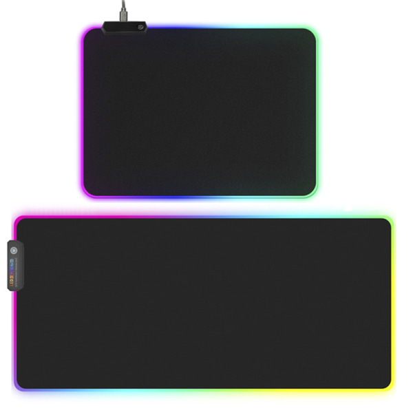 RGB Colorful LED Lighting Gaming Mouse Pad Mat for PC Laptop 300*780mm