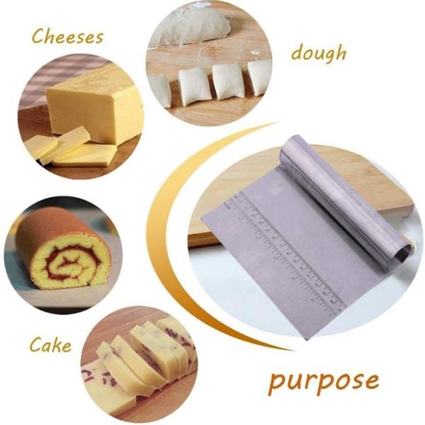 Rostfritt stål Pizza Dough Scraper Cutter Kitchen Baking Pastr