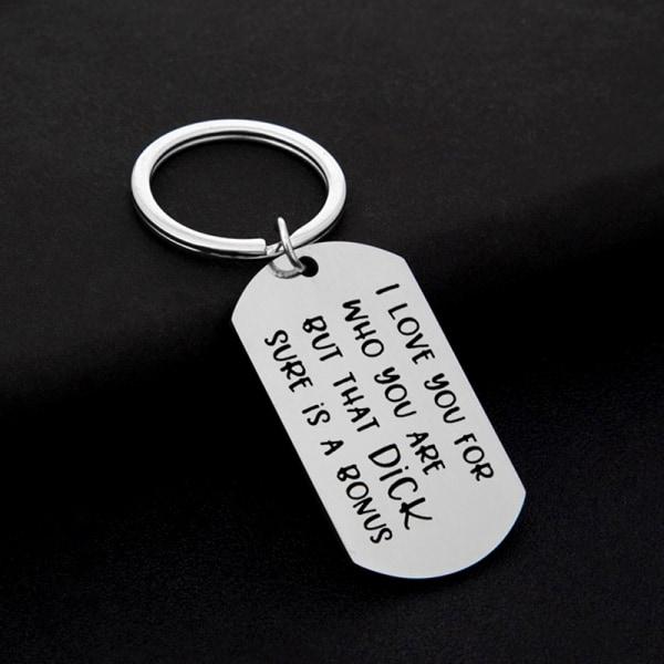 Stål Nyckelring Nyckelring Familj Par Kärleksnyckelringar Pojkvän G