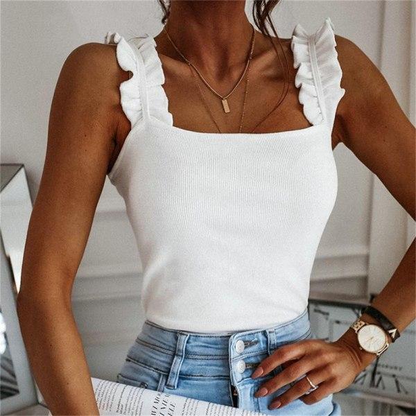 linne damkvadrat krage solid stickad avslappnad enkel sommarribba