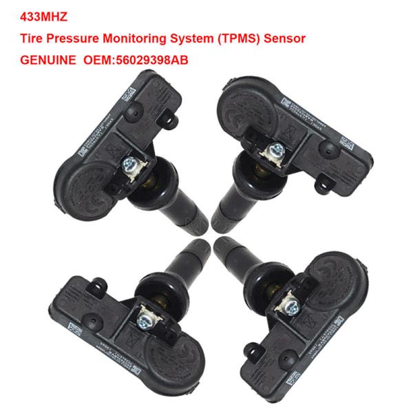 TPMS däcktryckssensor 56029398AB 433Mhz för Grand Cherokee