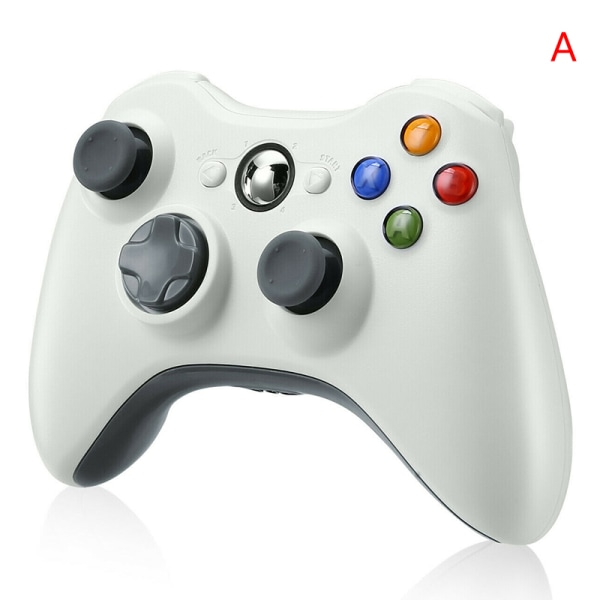 Wireless Game Controller Gamepad Joystick Pad for Support PC White