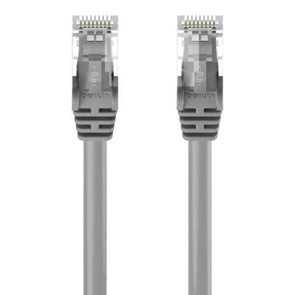 Cat5e UTP, oskärmad 3m, nätverkskabel / Patchkabel, Grå BELKIN grå 3 m