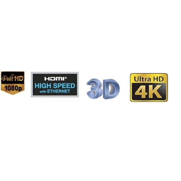 HDMI kabel 0,5m, platt / flat, guldpläterad BULK 50 cm