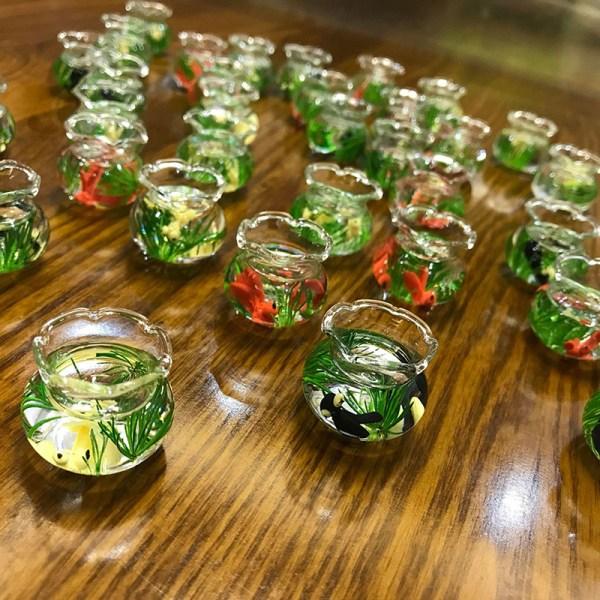 1:12 Glasskål för akvarium Dollhouse Miniature 1/12 Decor Ac