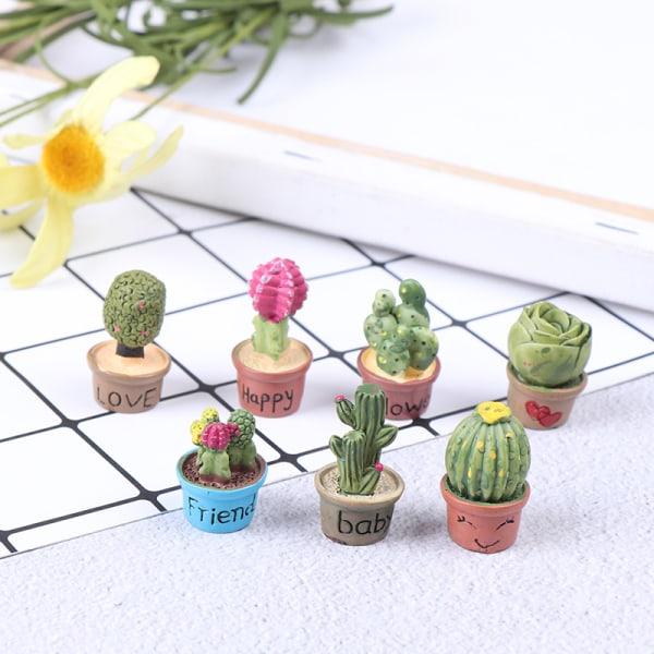 1:12 miniatyr suckulent grön växt i kruka för dockhusinredning