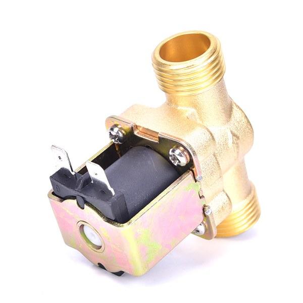 1/2 tum Magnetventil Vattenventil AC 220V Elektrisk ventil Normall