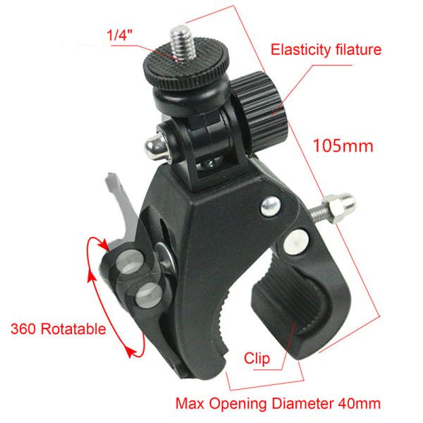 1/4 kamera DV DSLR Bike Bicycle Handlebar Clamp Fäste Stativ
