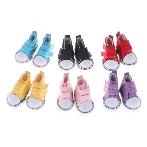 1/6 BJD Doll Fashion Mini Toy 5cm Canvas Skor Sneaker Bjd Doll