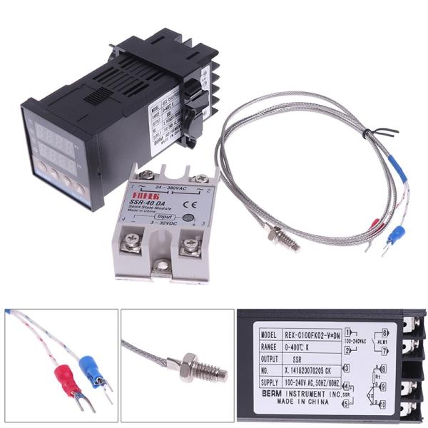 100-240VAC PID REX-C100 Temperature Controller SSR-40A Thermoco 1#