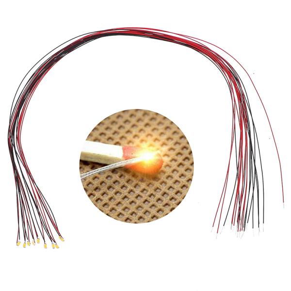 10st 20cm t0603wm lödad mikrolit kabelanslutna varmvita s