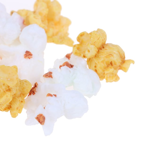 10st dockhus simulerad popcornhartsperforering Diy Keychai