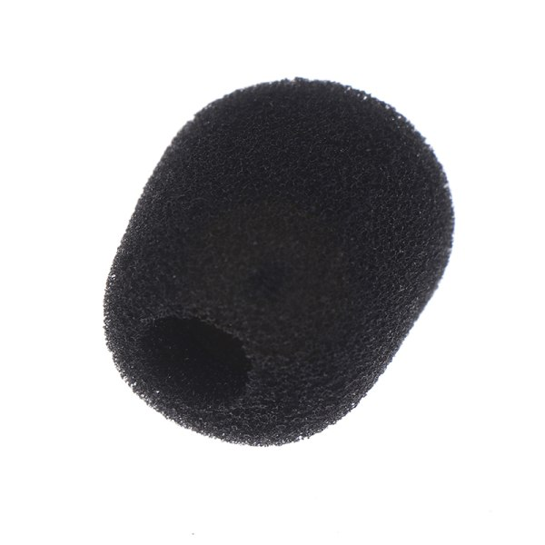 10pcs Practical Small Black Microphone Headset Windscreen Sponge
