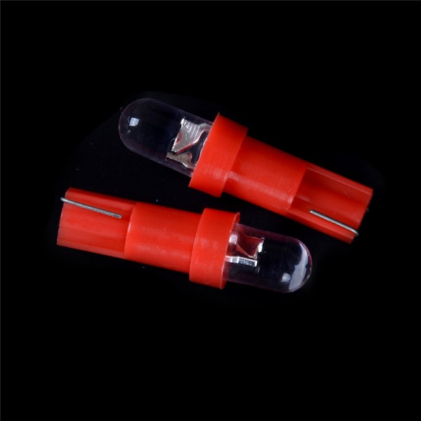 10pcs Red T5 12V LED Car Wedge Dashboard Gauge Light Lamp Bulb 0