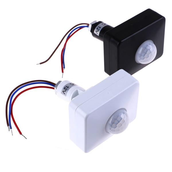 12V PIR Body Infrared Motion Sensor Automatic Switch Infrared In White DC 12V