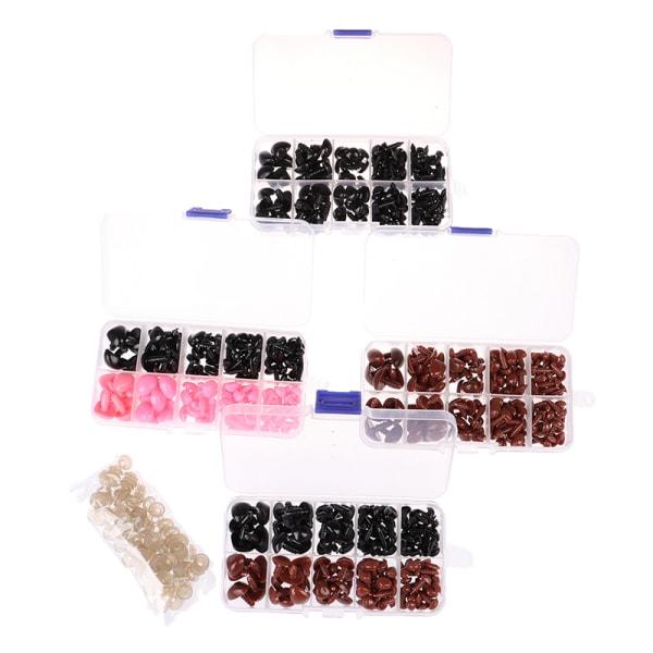 130 st plast säkerhetsnos triangel för docka fyllda grejer