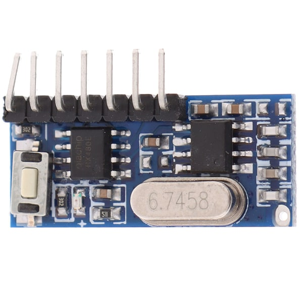 1Pc 433mhz rf receiver learning code decoder module 4 channel fo Onesize